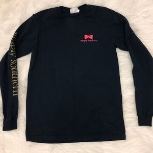 Simply southern navy long sleeve- small